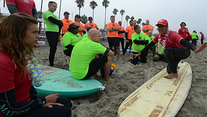 Thunderbolts participate in San Diego veteran's sports clinic