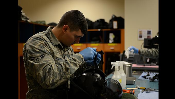 AFE Airmen maintain flight equipment through teamwork