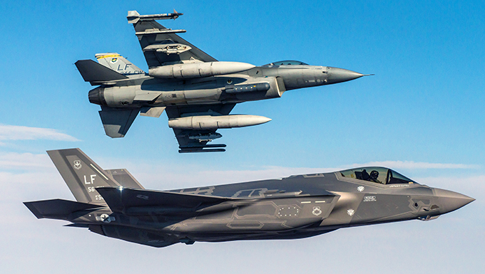 F-35 begins integrated training with F-16 at Luke