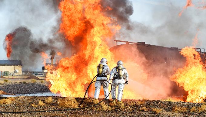 Firefighter training at Luke